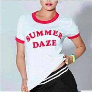 Victoria's Secret PINK Summer Daze T-Shirt sz M/L